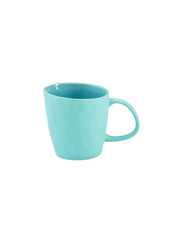Porseleinen espressokopjes Plage in Ovale vorm, 2 stuks, Porselein, Turquoise, Ø 6 x H 5 cm