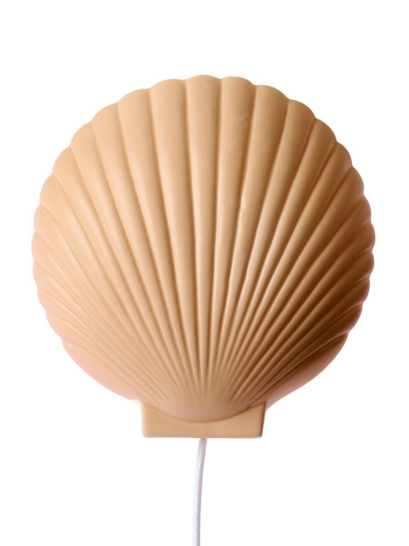 Wandleuchte Shell aus Steingut mit Stecker, Lampenschirm: Steingut, Terrakotta, 19 x 21 cm