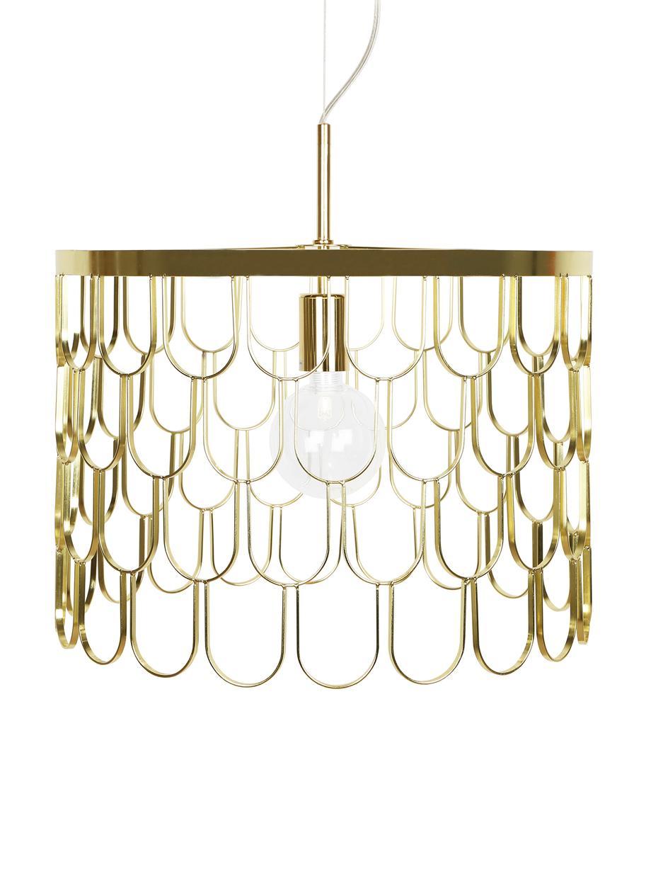 Design hanglamp Gatsby, Messingkleurig, Ø 45 x H 32 cm