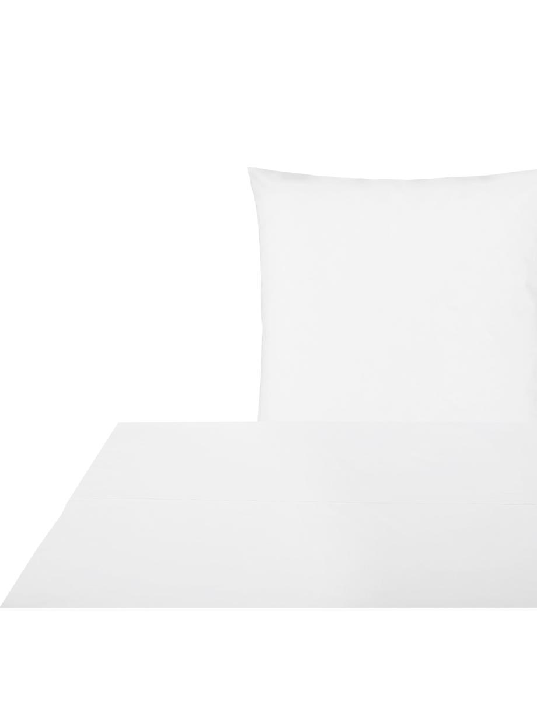 Set lenzuola in percalle Elsie, Tessuto: percalle Densità del filo, Bianco, 150 x 300 cm