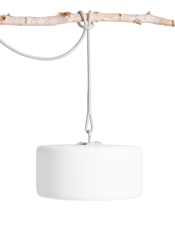 Mobile LED-Außenleuchte Thierry, Weiß, Hellgrau, Ø 41 x H 21 cm