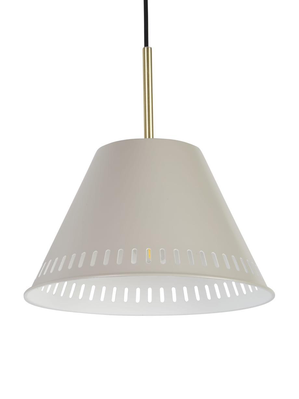 Lampa wisząca Pine, Szary, odcienie mosiężnego, Ø 30 cm x W 31 cm