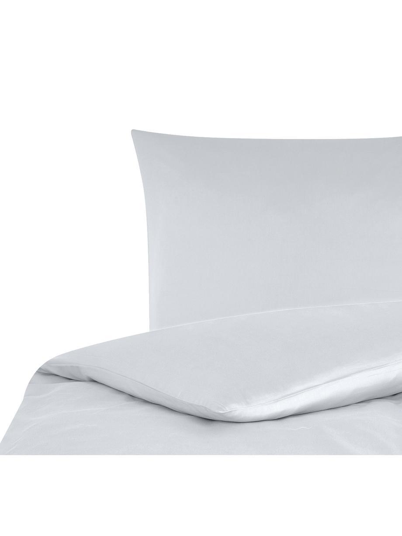 Katoensatijnen dekbedovertrek Comfort, Weeftechniek: satijn, licht glanzend, Lichtgrijs, 140 x 200 cm