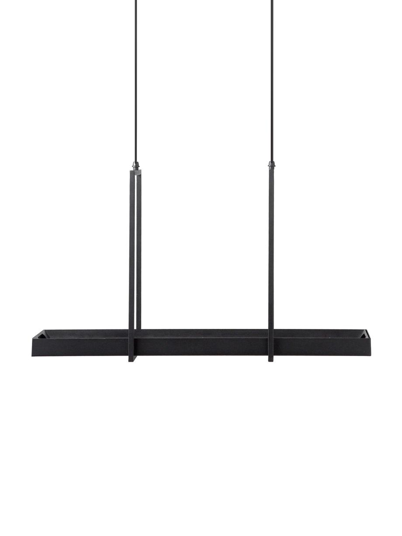 Lámpara de techo LED Tray, estilo industrial, Pantalla: metal pintado, Anclaje: metal pintado, Cable: plástico, Negro, An 80 x Al 50 cm