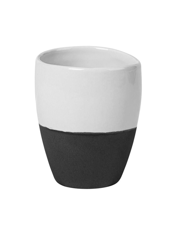 Handgemachte Espressobecher Esrum matt/glänzend, 4 Stück, Unten: Steingut, naturbelassen, Elfenbeinfarben, Graubraun, 100 ml