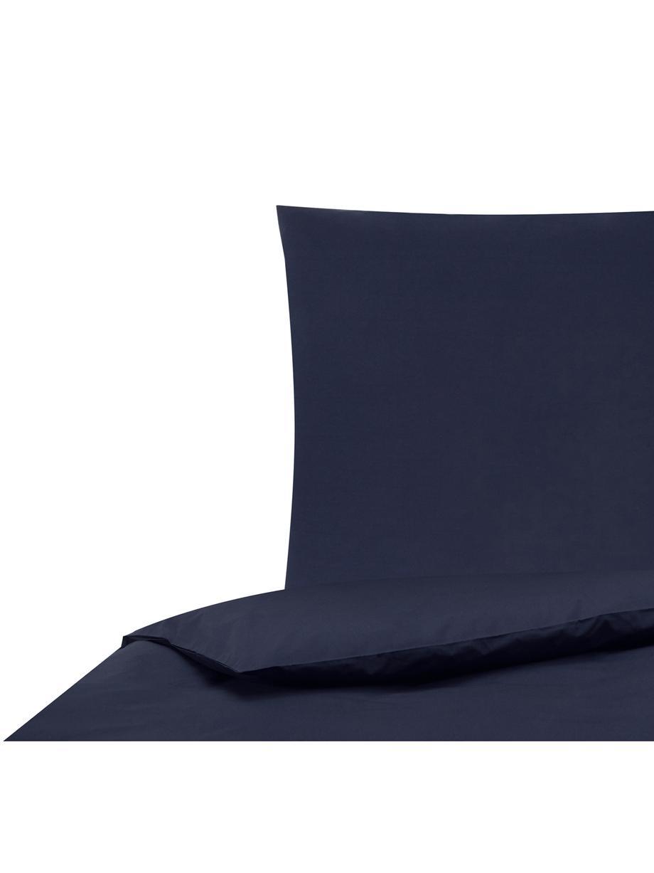 Parure copripiumino in percalle Elsie, Tessuto: percalle Densità del filo, Blu scuro, 155 x 200 cm