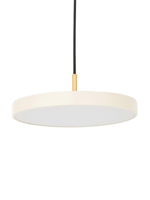 Lámpara de techo LED de diseño Asteria, Pantalla: aluminio pintado, Cable: plástico, Blanco perla, dorado, Ø 31 x Al 14 cm
