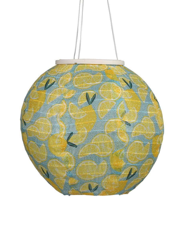 Solar-Laterne Citrus, Lampenschirm: Baumwolle, Gelb, Blau, Grün, Ø 25 x H 25 cm