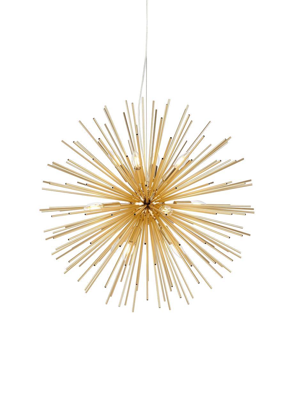 Grosse Design Pendelleuchte Soleil, Messingfarben, Ø 72 cm