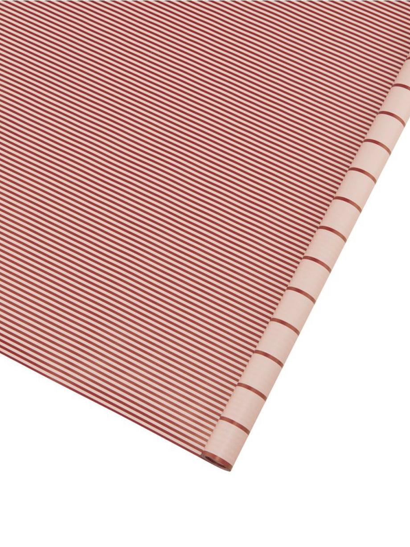 Papier prezentowy Stripey, Papier, Czerwony, różowy, S 50 x D 70 cm