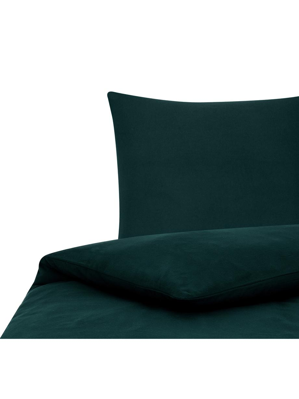 Flanell-Bettwäsche Biba in Waldgrün, Webart: Flanell Flanell ist ein s, Waldgrün, 135 x 200 cm + 1 Kissen 80 x 80 cm