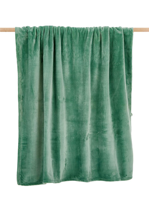 Manta suave Doudou, 100%poliéster, Verde menta, An 130 x L 160 cm