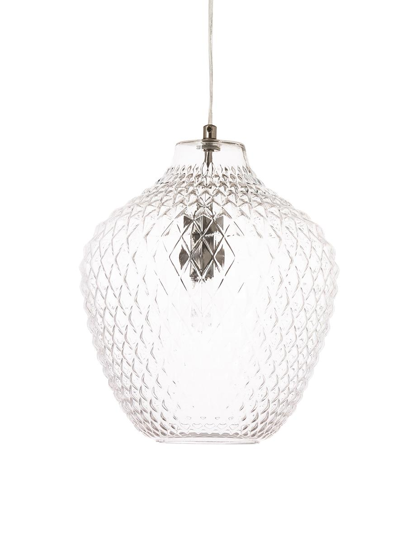 Lámpara de techo pequeña de vidrio Lee, Pantalla: vidrio, Transparente, cromo, Ø 27 x Al 33 cm