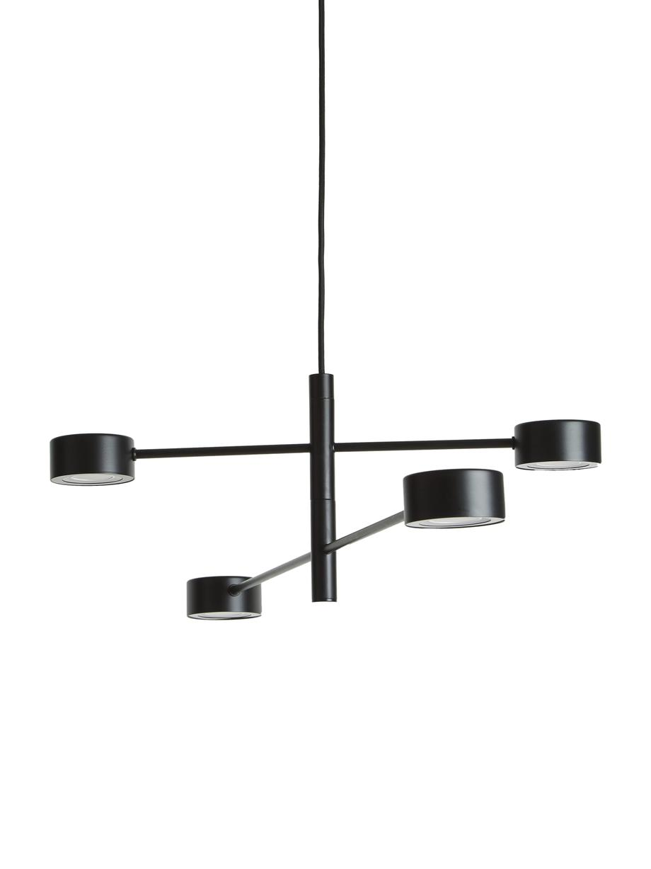 Grosse Dimmbare LED-Pendelleuchte Clyde, Lampenschirm: Metall, beschichtet, Baldachin: Metall, beschichtet, Schwarz, Ø 90 cm x H 22 cm