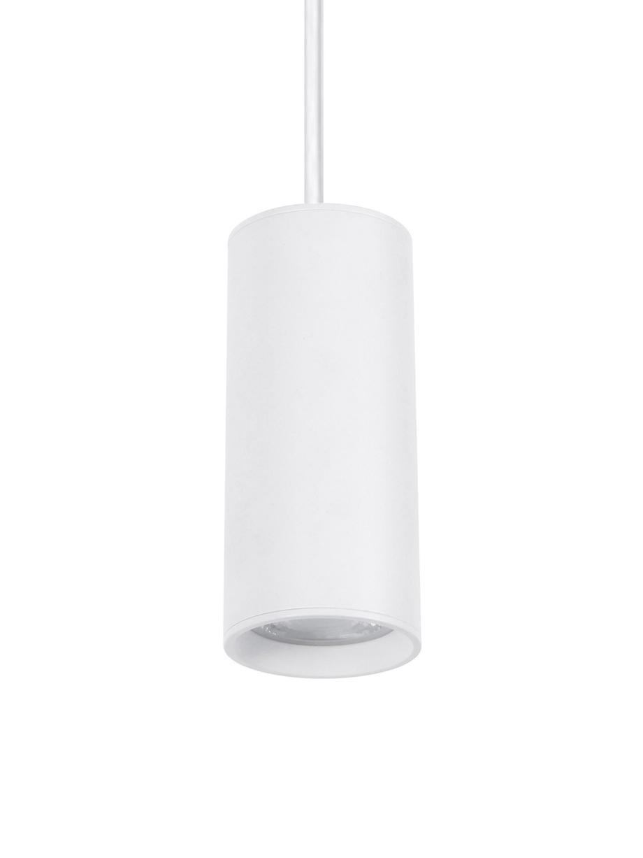 Lámpara de techo pequeña Aila, estilo moderno, Pantalla: aluminio recubierto, Anclaje: aluminio recubierto, Cable: plástico, Blanco, Ø 6 x Al 20 cm