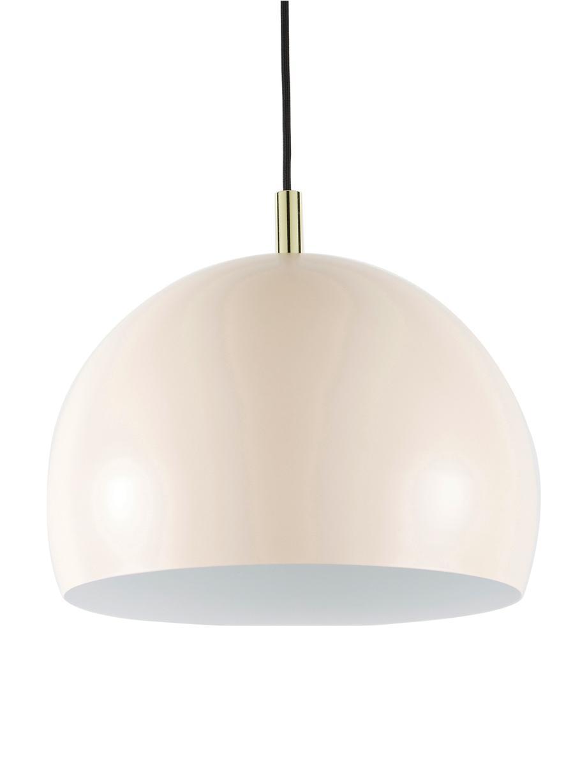 Hanglamp Wilma van metaal, Lampenkap: gepoedercoat metaal, Baldakijn: gepoedercoat metaal, Decoratie: gegalvaniseerd metaal, Roze, Ø 33 x H 25 cm