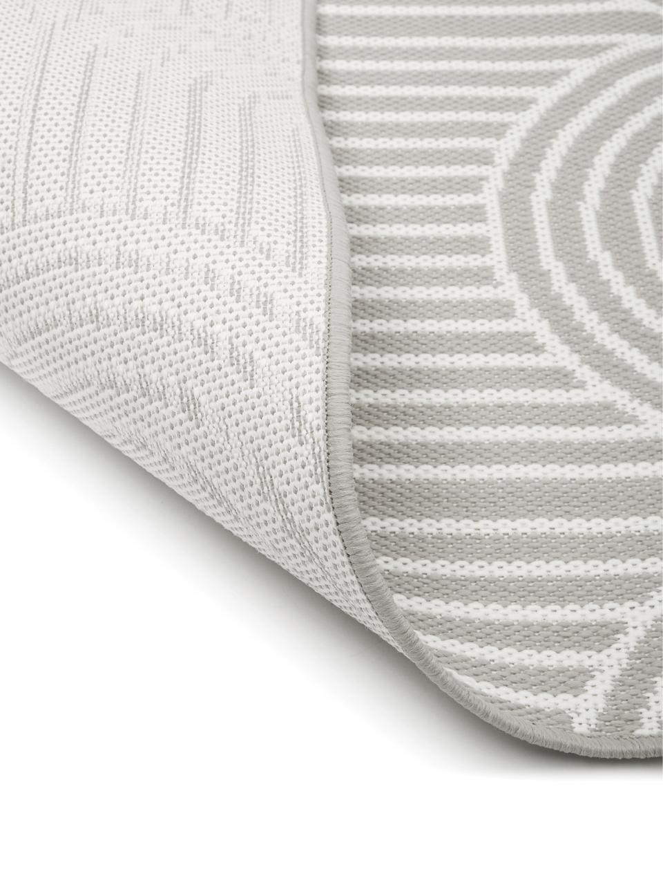 In- & Outdoorläufer Arches in Grau/Cremeweiß, 86% Polypropylen, 14% Polyester, Grau, Weiß, 80 x 250 cm