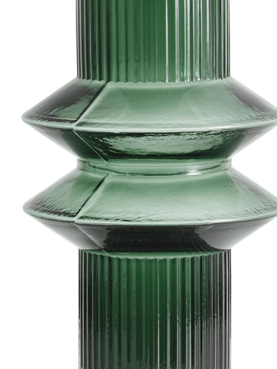Vaso in vetro Rilla, Vetro, Verde, Ø 9 x Alt. 32 cm