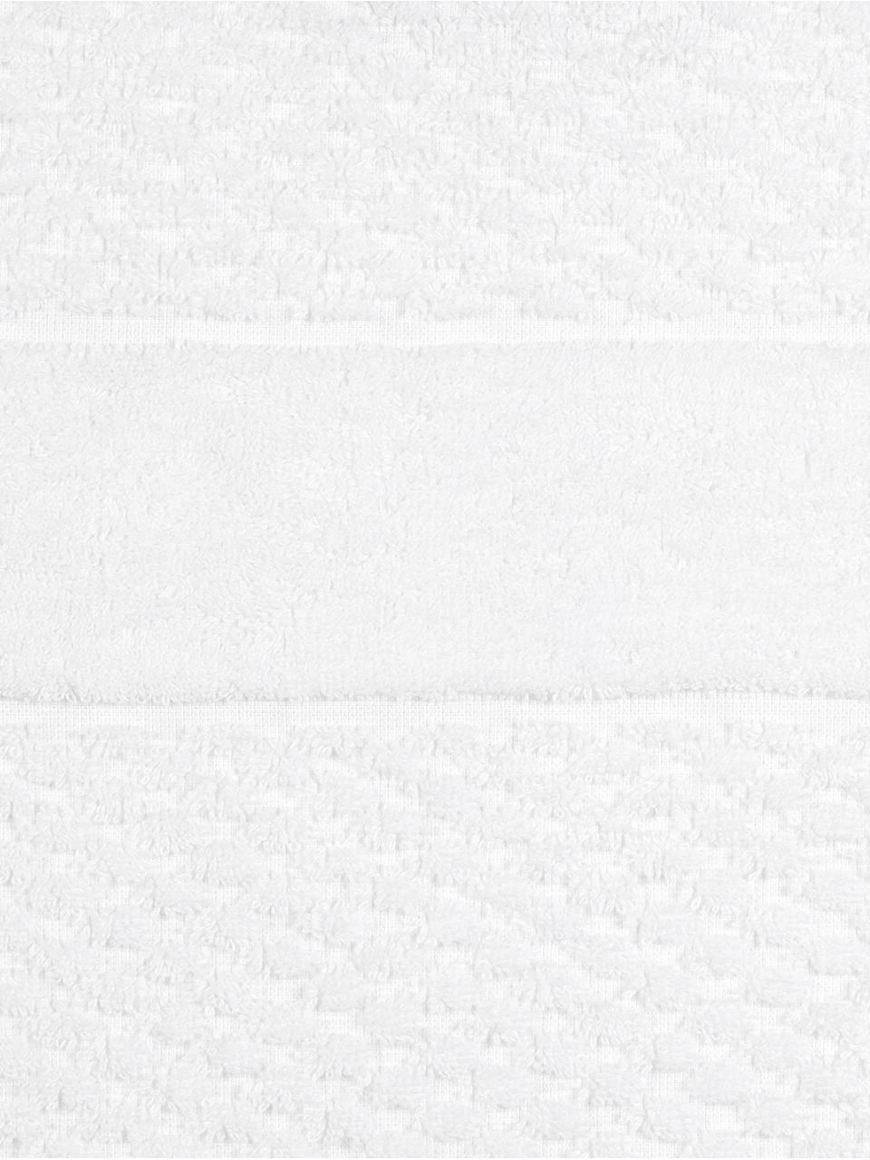 Handtuch-Set Katharina mit Wabenmuster, 3-tlg., Weiß, Sondergrößen