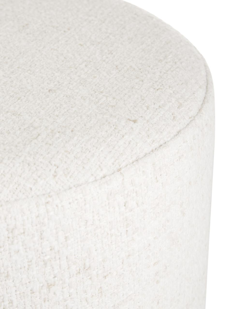 Tabouret tissu bouclé Orchid, Blanc
