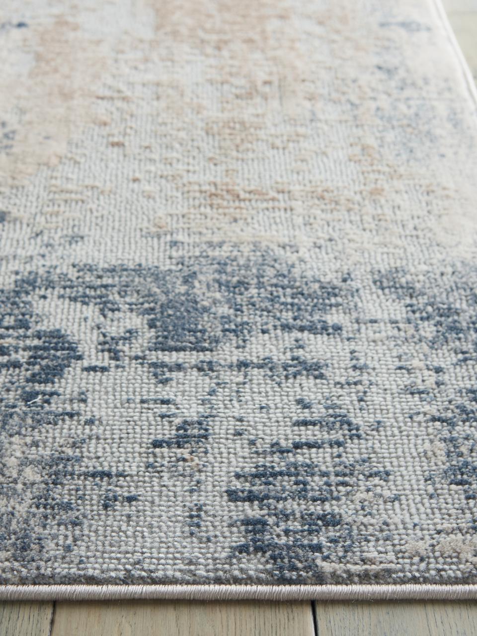 Dywan z wypukłym wzorem Rustic Textures II, Odcienie beżowego, szary, S 160 x D 220 cm  (Rozmiar M)