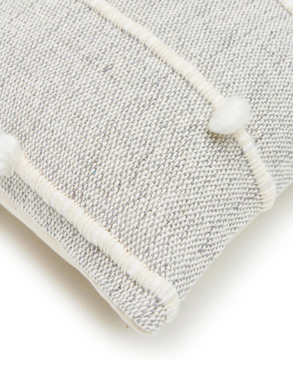 Kissen Bubble mit Verzierungen, mit Inlett, Bezug: 100% Acryl, Grau, Weiß, 45 x 45 cm