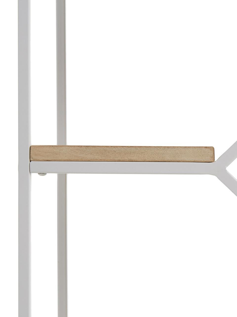 Standregal Push aus Holz und Metall, Gestell: Metall, lackiert, Weiß, Braun, 80 x 94 cm
