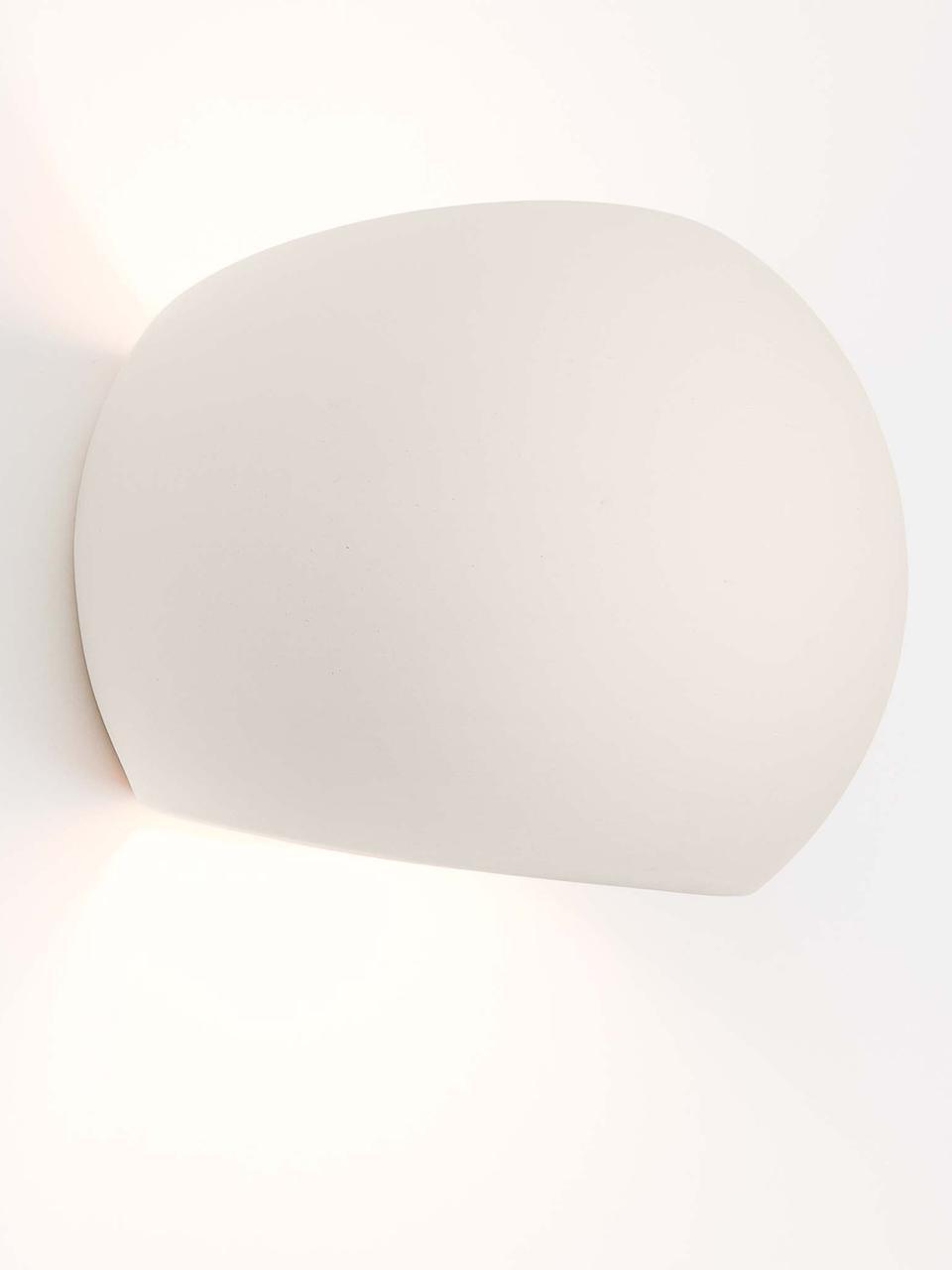 Applique murale en céramique Mercury, Blanc