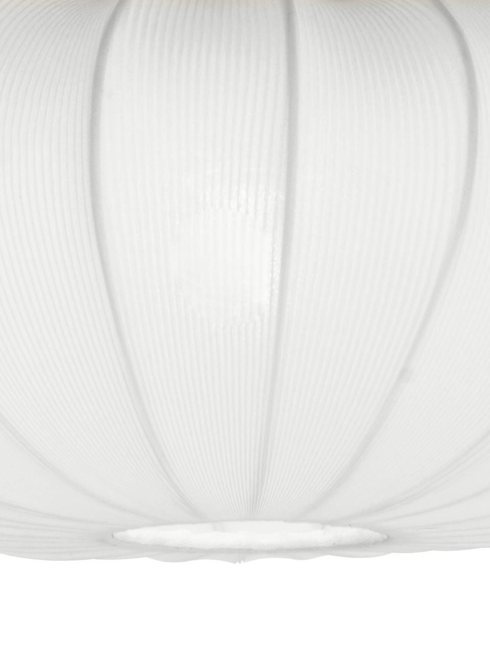 Plafoniera Mamsell, Paralume: 60%poliestere, 40%rayon, Struttura: metallo, Bianco, Ø 55 x Alt. 28 cm