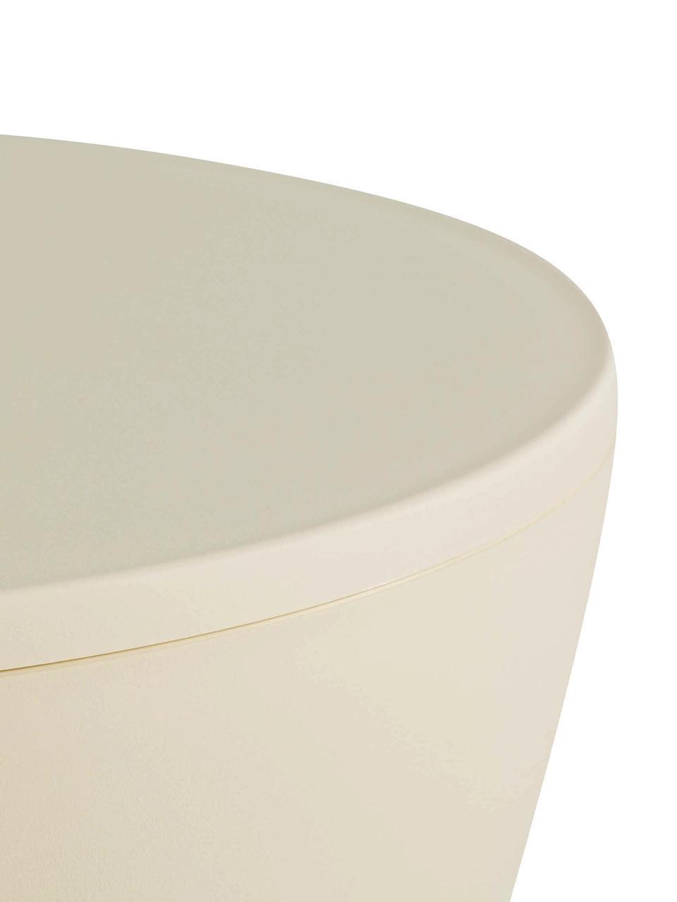 Taburete / Mesa auxiliar de diseño PrinceAHA, Polipropileno pigmentado, Crema, Ø 30 x Al 43 cm