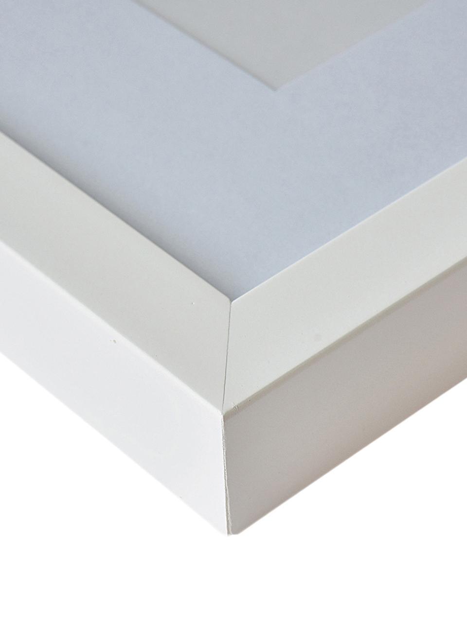 Bilderrahmen Apollon, Rahmen: Monterey-Kiefernholz, lac, Front: Glas, Rückseite: Mitteldichte Holzfaserpla, Weiß, 18 x 24 cm