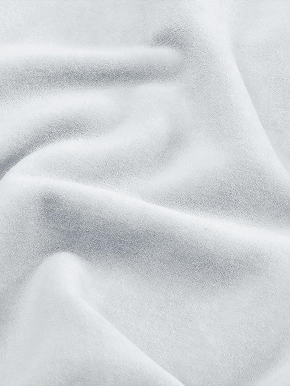 Poszewka na poduszkę z aksamitu Dana, 100% aksamit bawełniany, Jasny szary, S 50 x D 50 cm