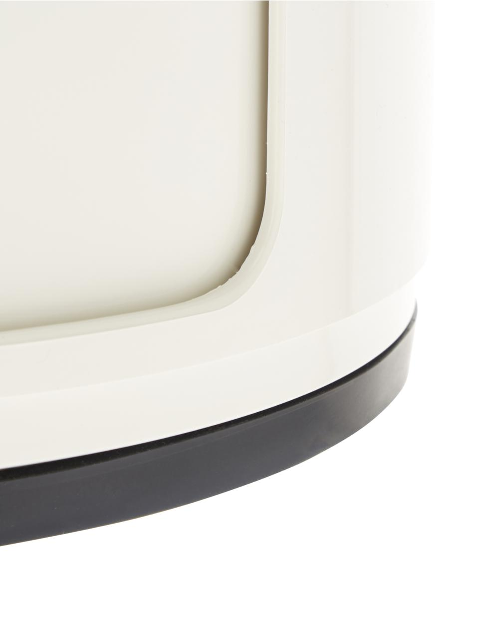 Comodino di design con cassetti Componibile, Materiale sintetico, bianco opaco, Ø 32 x Alt. 59 cm