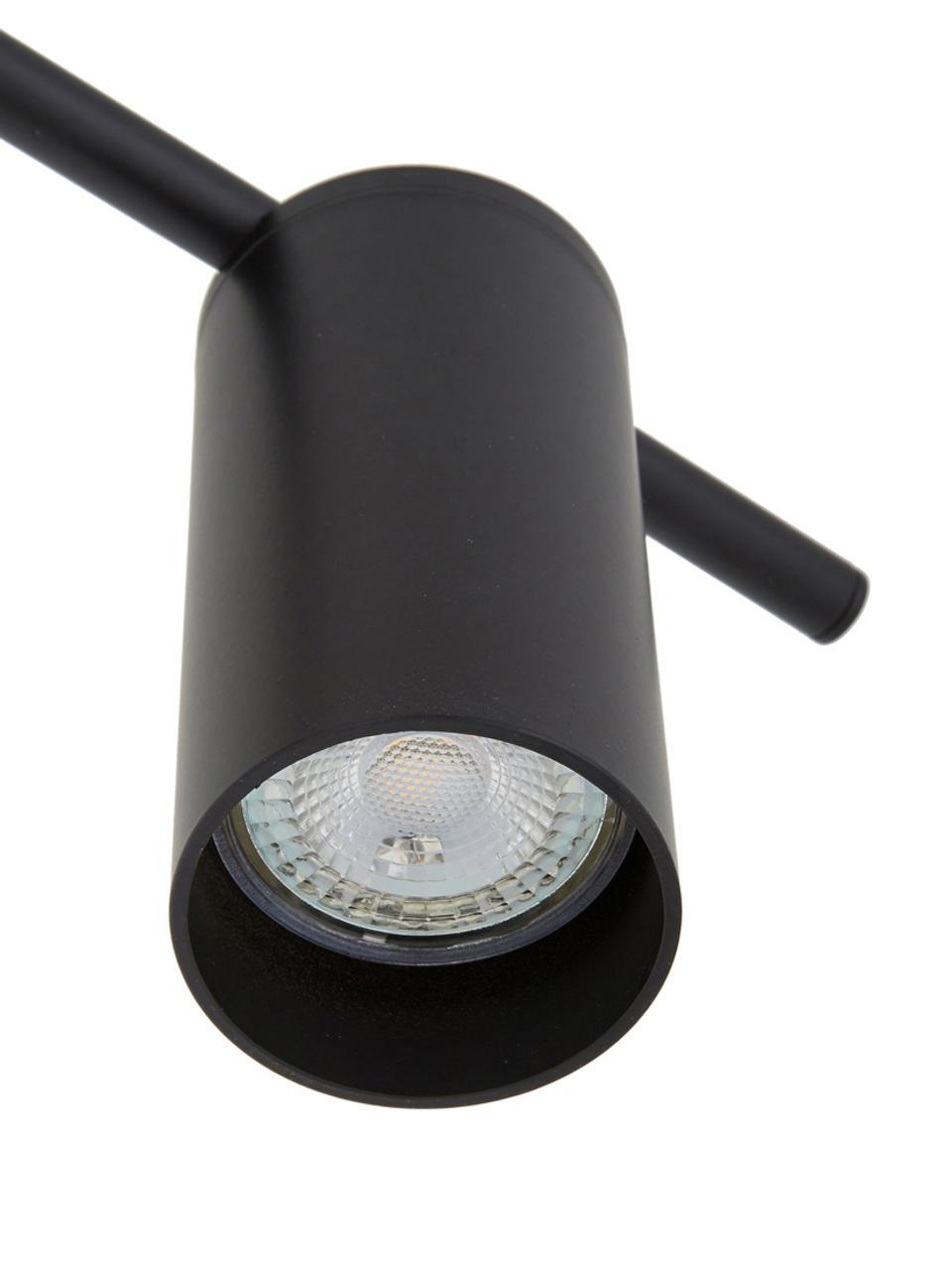 Lampa sufitowa Cassandra, Metal malowany proszkowo, Czarny, matowy, S 80 x W 16 cm