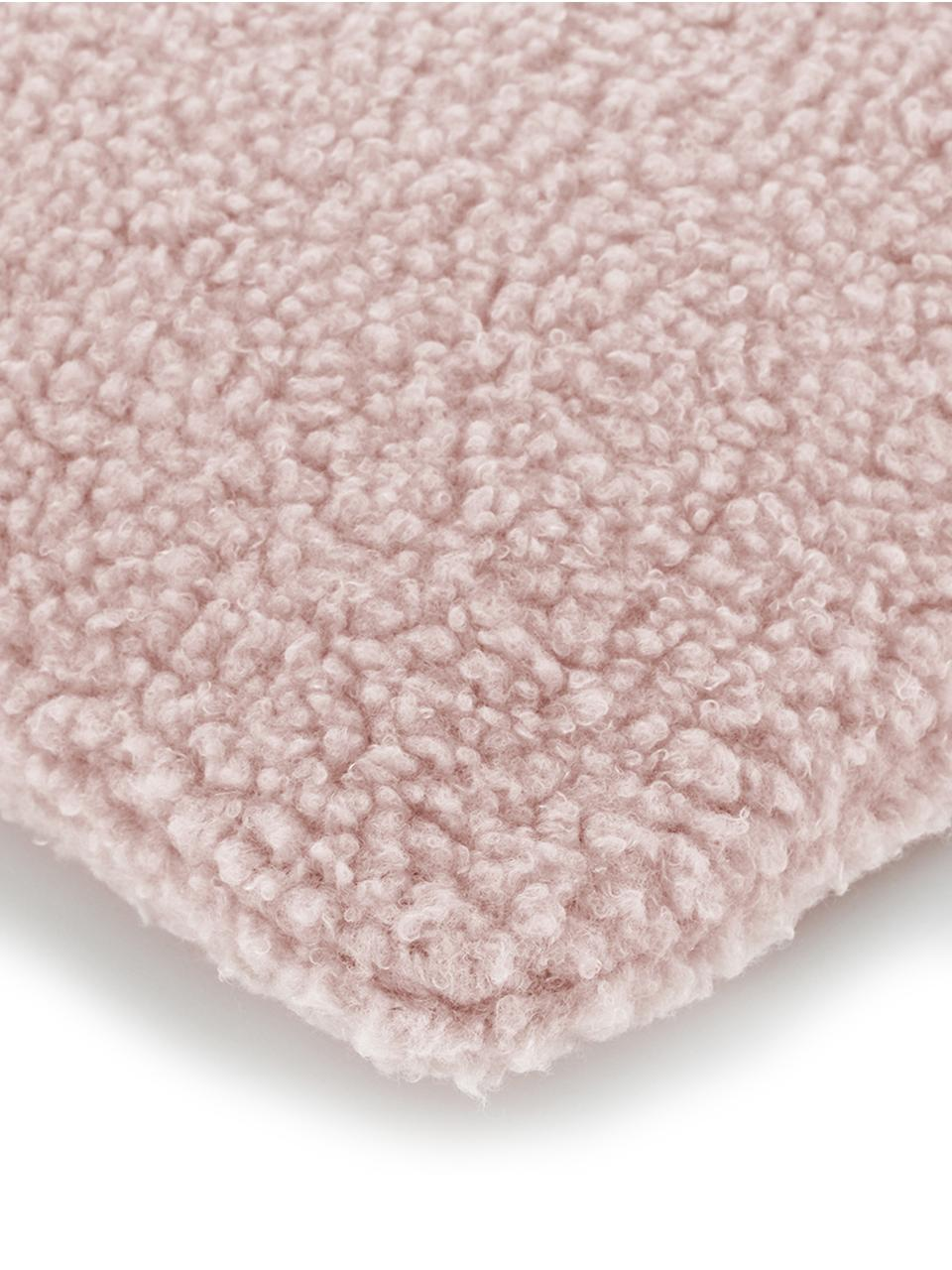 Federa arredo in teddy rosa Mille, Retro: 100% poliestere (teddy), Rosa, Larg. 30 x Lung. 50 cm