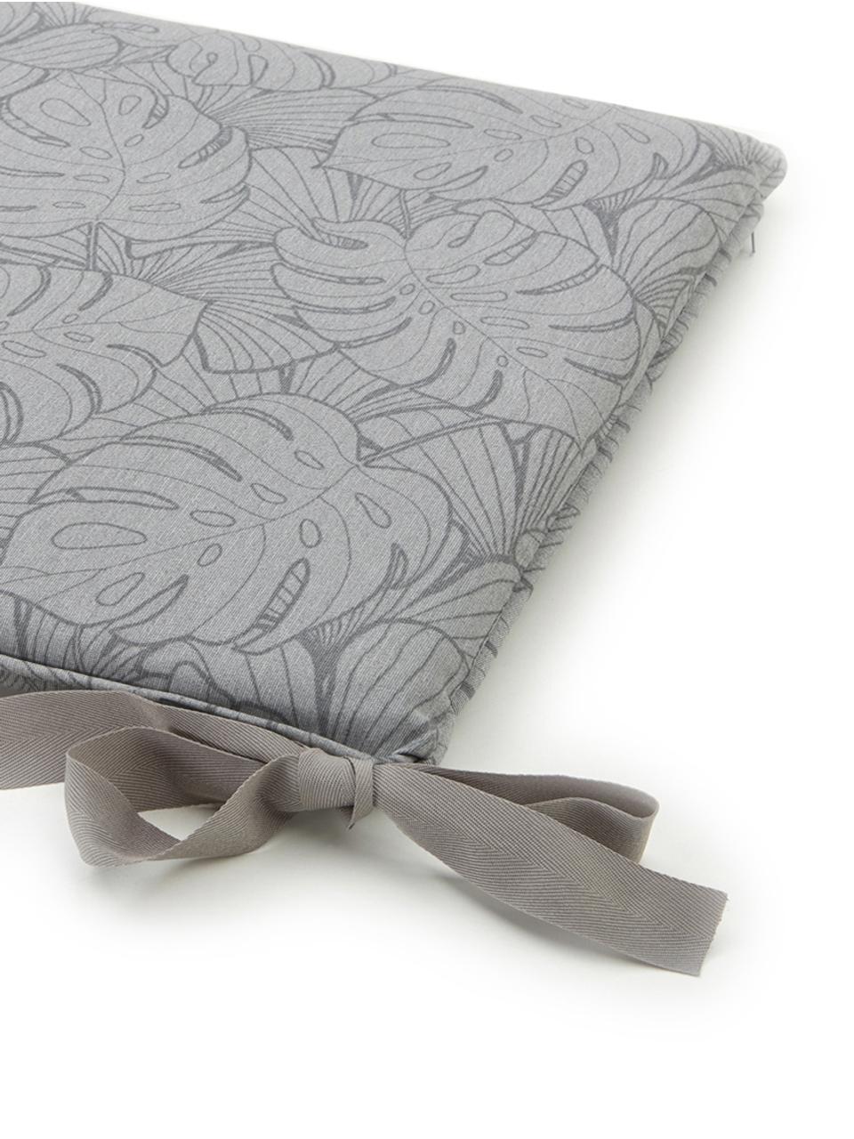 Nakładka na ławkę Palm, Tapicerka: 50% bawełna, 45% polieste, Szary, S 48 x D 120 cm