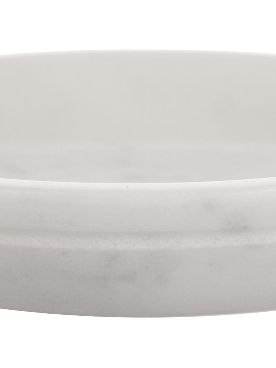 Portasapone in marmo Lorka, Marmo, Bianco, Ø 10 x Alt. 2 cm