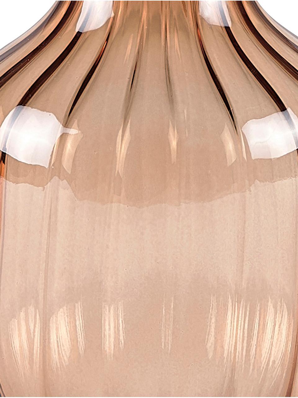 Glas-Vase Cameron, Glas, Braun, Ø 10 x H 13 cm