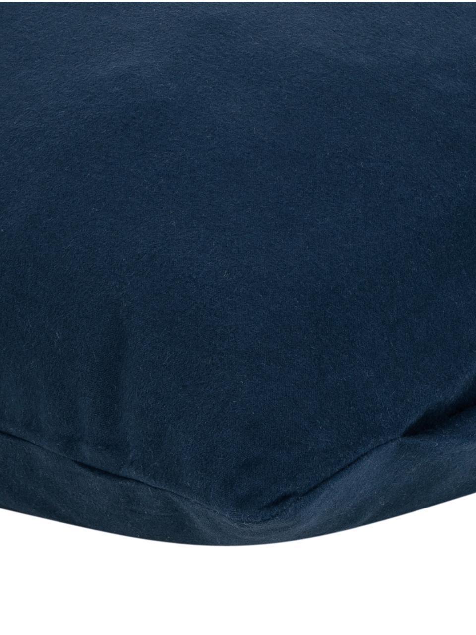 Flanell-Kissenbezüge Biba in Navyblau, 2 Stück, Webart: Flanell Flanell ist ein k, Navyblau, 40 x 80 cm