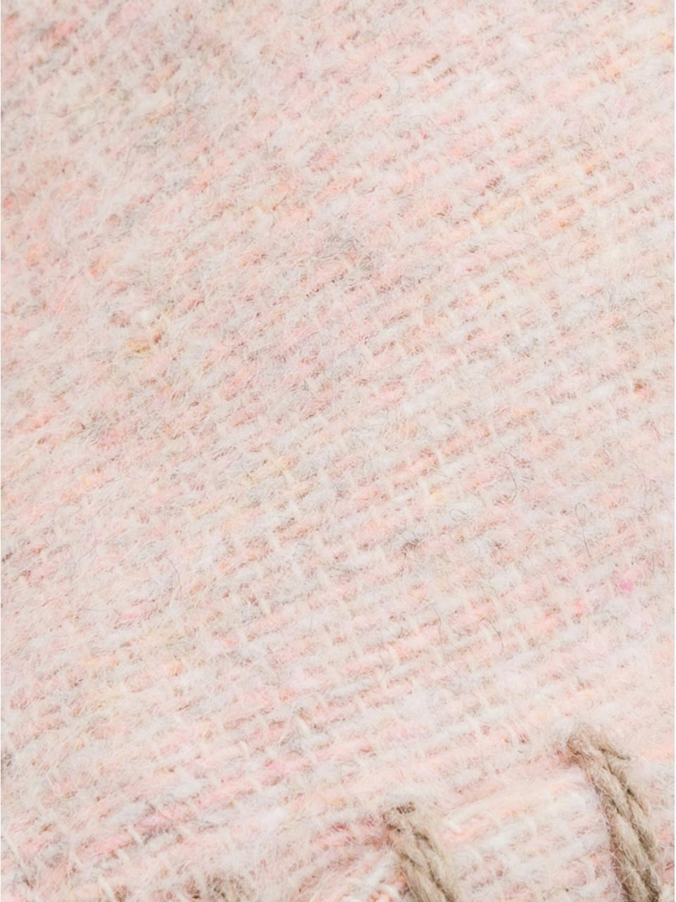 Federa arredo in pile rosa cipria Sylt, 85% cotone, 8% viscosa, 7% poliacrilico, Rosa cipria, crema, Larg. 40 x Lung. 40 cm