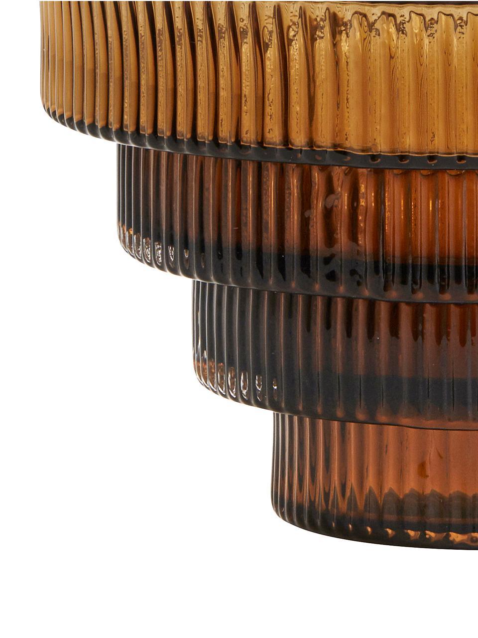 Vaso in vetro trasparente con riflessi ambrati Rilla, Vetro, Ambra, Ø 16 x Alt. 16 cm