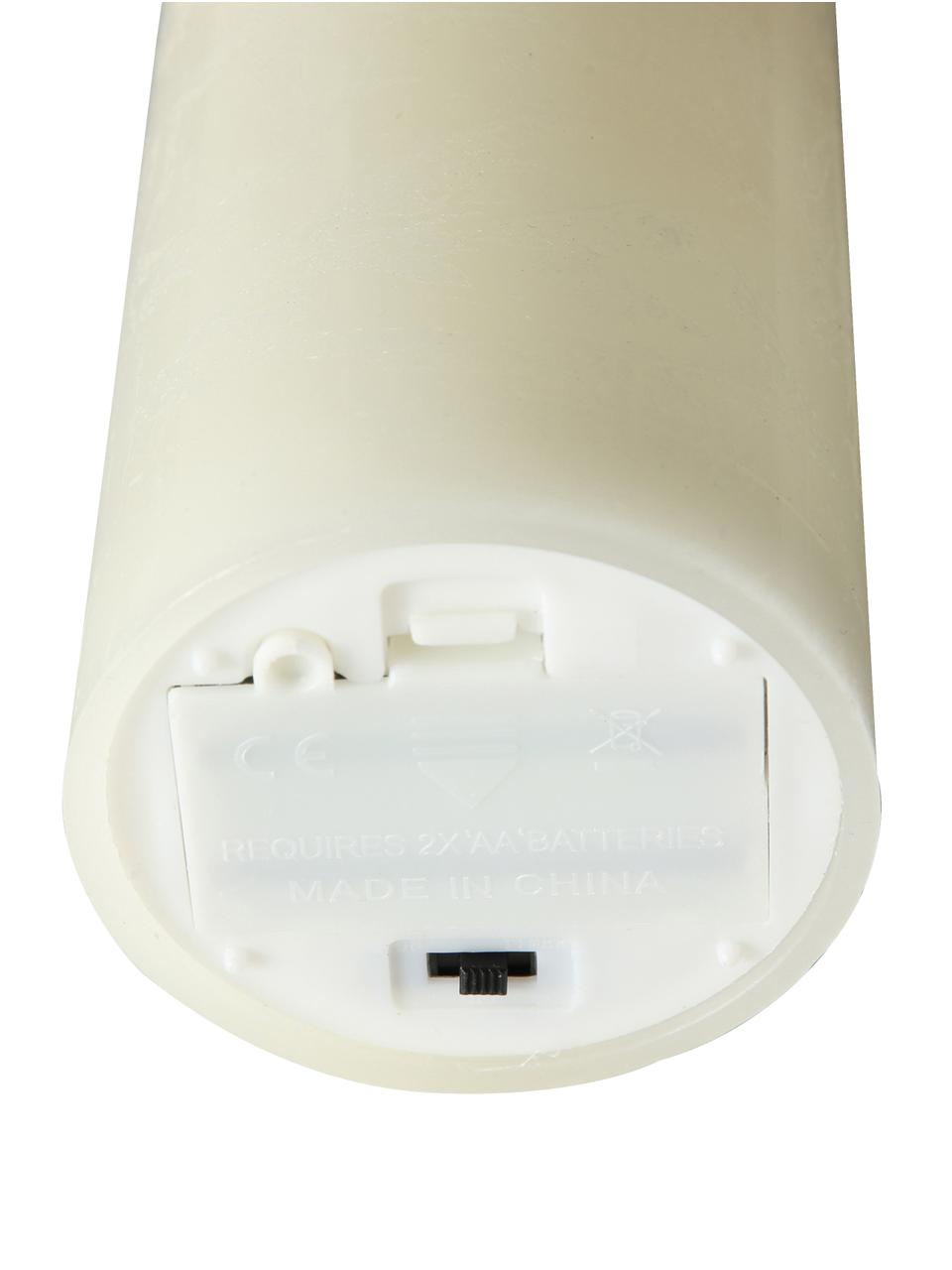 Vela LED Bino, Crema, Ø 8 x Al 15 cm