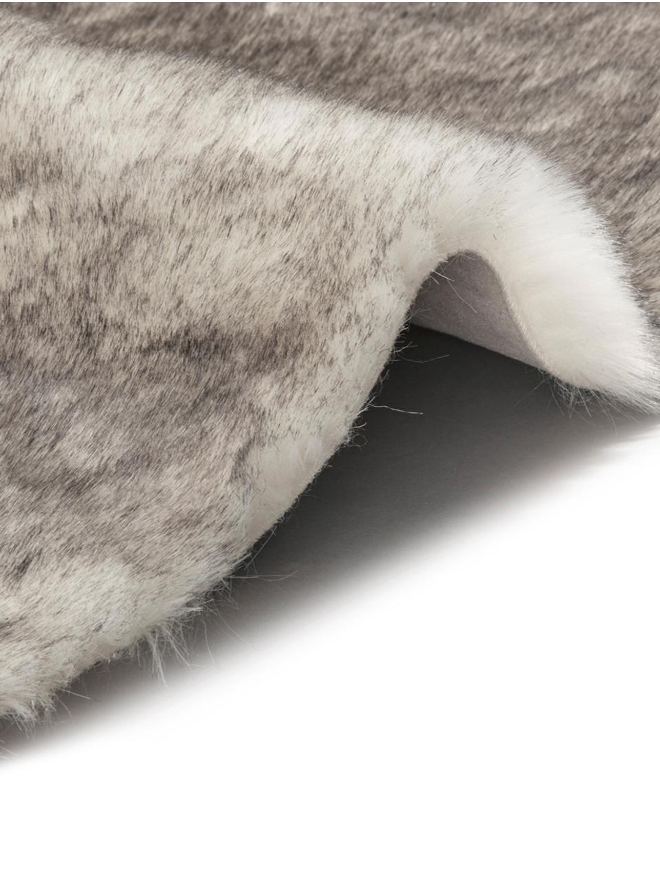 Alfombra de piel sintética Superior, Parte superior: 95%acrílico, 5%poliéste, Reverso: cuero sintético, Crema, beige, blanco, An 180 x L 280 cm (Tamaño M)