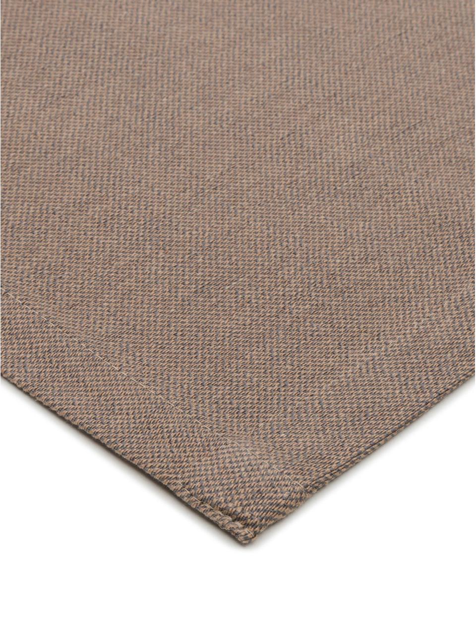 Runner da tavolo Riva, 55% cotone, 45% poliestere, Taupe, Larg. 40 x Lung. 150 cm