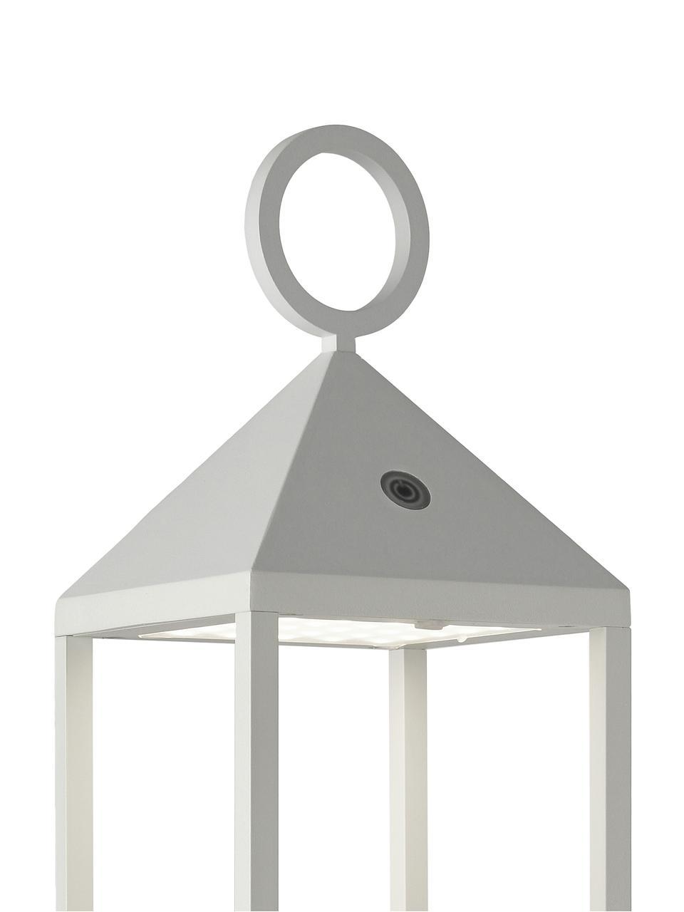 Mobile LED-Außenleuchte Cargo, Aluminium, lackiert, Weiß, 14 x 67 cm