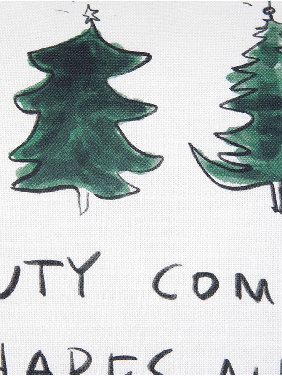 Federa arredo di Kera Till Beauty, Cotone, Verde, nero, bianco crema, Larg. 40 x Lung. 40 cm