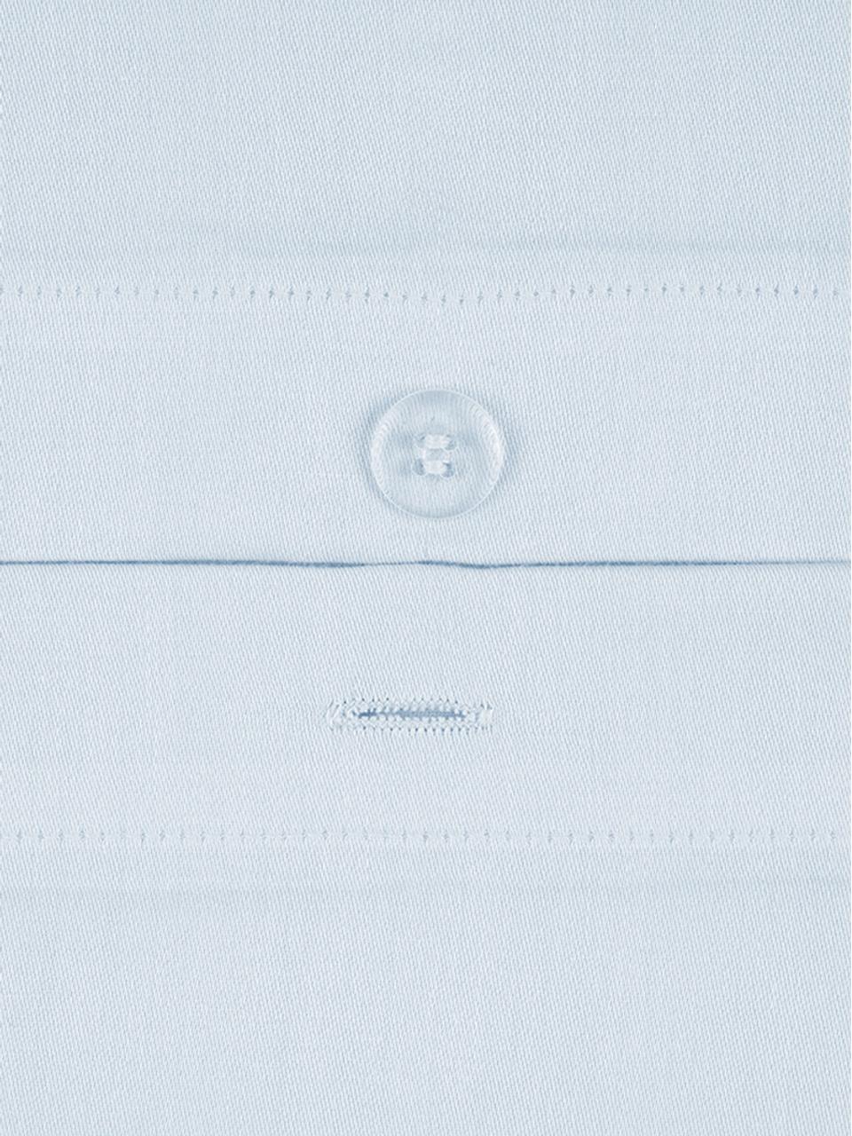 Parure copripiumino in raso di cotone Comfort, Azzurro, 255 x 200 cm
