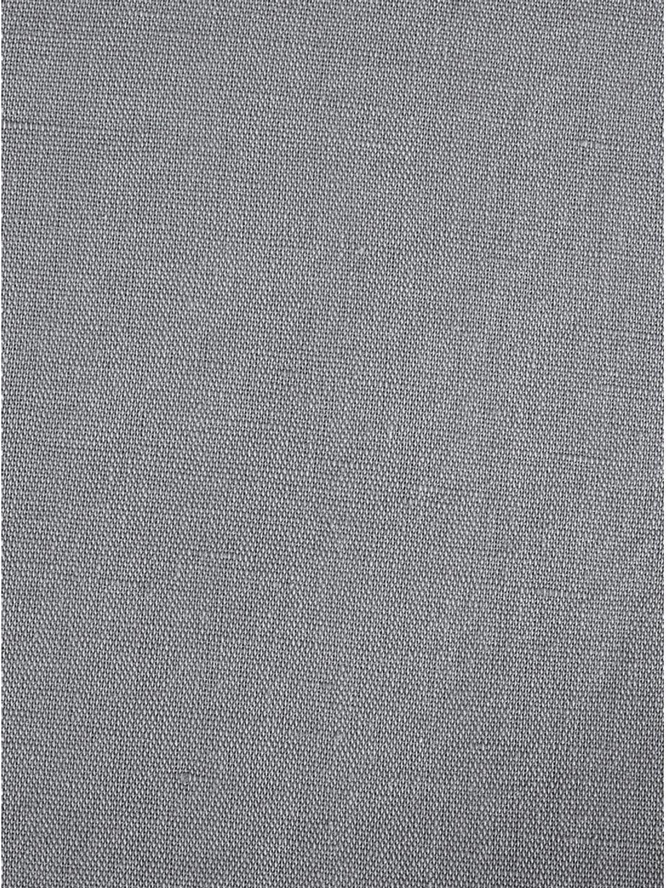 Gewaschene Leinen-Kissenbezüge Nature in Dunkelgrau, 2 Stück, Halbleinen (52% Leinen, 48% Baumwolle)  Fadendichte 108 TC, Standard Qualität  Halbleinen hat von Natur aus einen kernigen Griff und einen natürlichen Knitterlook, der durch den Stonewash-Effekt verstärkt wird. Es absorbiert bis zu 35% Luftfeuchtigkeit, trocknet sehr schnell und wirkt in Sommernächten angenehm kühlend. Die hohe Reißfestigkeit macht Halbleinen scheuerfest und strapazierfähig., Dunkelgrau, 40 x 80 cm
