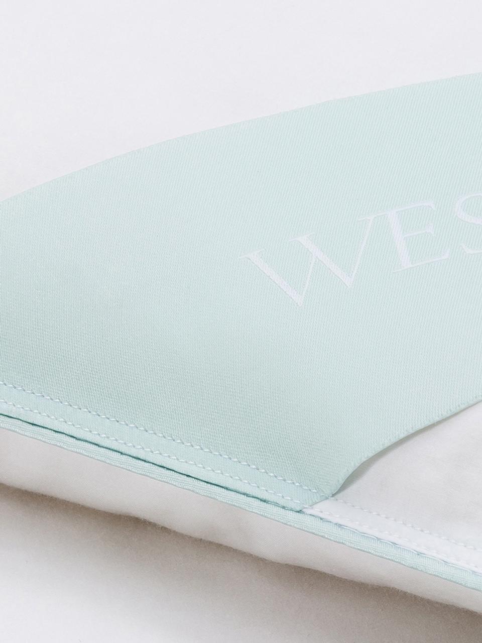 Donzen cassette-dekbed Comfort, warm, Wit, 135 x 200 cm