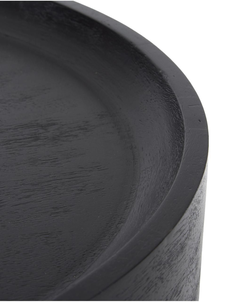 Table d'appoint en bois de manguier Benno, Bois de manguier, noir laqué